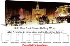 Las Vegas The Strip American Landmark in Nevada-21 Canvas Wrap 48