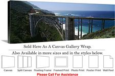 Big Sur Bixby Bridge California Coastal Landscape Canvas Wrap 48