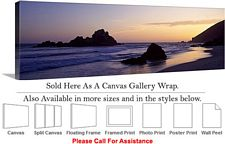 Big Sur Pfeiffer Beach Sunset California Landscape Canvas Wrap 48