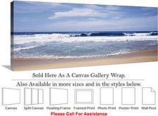 Big Sur Waves on the Beach California Landscape Canvas Wrap 48