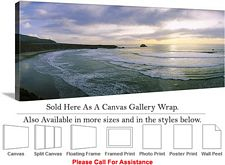 Big Sur Sunset Ocean California Coastal Landscape Canvas Wrap 48