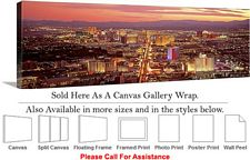 Las Vegas The Strip American Landmark in Nevada-18 Canvas Wrap 48