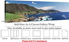 Big Sur Pacific Ocean California Coastal Landscape Canvas Wrap 48