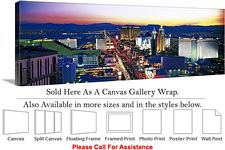 Las Vegas The Strip American Landmark in Nevada-3 Canvas Wrap 48