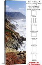 Big Sur Monterey County California Coast Landscape Canvas Wrap 16
