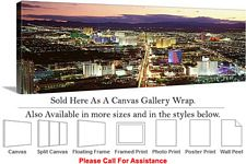 Las Vegas The Strip American Landmark in Nevada-6 Canvas Wrap 48