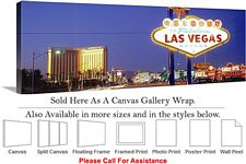 Las Vegas The Strip American Landmark in Nevada-22 Canvas Wrap 48