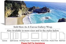 Big Sur McWay Cove California Coastal Landscape Canvas Wrap 48