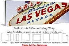 Las Vegas The Strip American Landmark in Nevada-10 Canvas Wrap 48