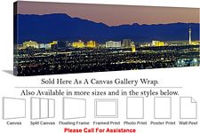 Las Vegas The Strip American Landmark in Nevada-17 Canvas Wrap 48