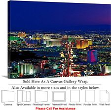 Las Vegas The Strip American Landmark in Nevada-7 Canvas Wrap 48
