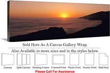 Big Sur Pacific Ocean Sunset California Landscape Canvas Wrap 48