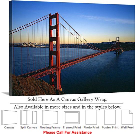 Home Home Decor Wall Art Decor Golden Gate Bridge At San