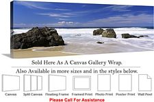 Big Sur Rocky Beach California Coastal Landscape Canvas Wrap 48