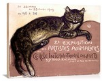 Exposition Artistes Animaliers Vintage Printed On Canvas