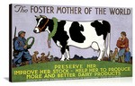 Foster Mother of the World Vintage Printed On Canvas