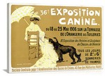 Exposition Canine de Briard Vintage Printed On Canvas