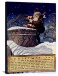 Christmas Day National Savings Bank Vintage Printed On Canvas