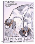 Internationale Hunde Ausstellung Vintage Printed On Canvas