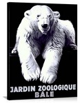 Jardin Zoologique Bale Vintage Printed On Canvas