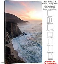 Big Sur Hurricane Point California Coast Landscape Canvas Wrap 20