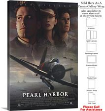 "Pearl Harbor Famous Action Movie Theater 2001 Art Canvas Wrap 20"" x 30"""