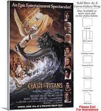 "Clash of the Titans Famous Movie Theater 1981 Art Canvas Wrap 18"" x 30"""
