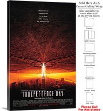 "Independence Day Famous Action Movie Theater Art Canvas Wrap 20"" x 30"""