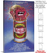 "Return of the Killer Tomatoes Movie Theater Art Canvas Wrap 18"" x 30"""