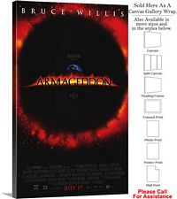 "Armageddon Famous Action Movie Theater 1998 Art Canvas Wrap 18"" x 30"""