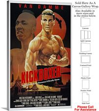 "Kickboxer Famous Action Movie Theater 1989 Art Canvas Wrap 18"" x 30"""