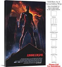 "Daredevil Famous Action Movie Theater 2003 Art Canvas Wrap 20"" x 30"""