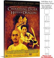 "Crouching Tiger Hidden Dragon Movie 2000 Art Canvas Wrap 20"" x 30"""