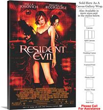 "Resident Evil Famous Action Movie Theater 2002 Art Canvas Wrap 20"" x 30"""