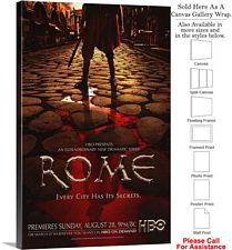 "Rome Famous Action Television Series 2005 Art Canvas Wrap 20"" x 30"""