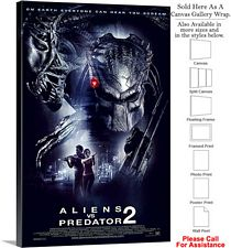 "Aliens vs Predator Requiem Movie Theater Art-2 Canvas Wrap 20"" x 30"""