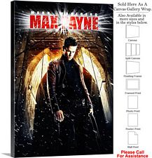 "Max Payne Famous Action Movie Theater 2008 Art Canvas Wrap 20"" x 30"""