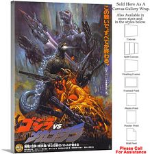 "Godzilla vs Mechagodzilla Movie Theater 1993 Art Canvas Wrap 20"" x 30"""