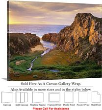 Big Sur Garrapata Creek California Coast Landscape Canvas Wrap 24