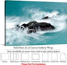 Big Sur McWay Falls California Coastal Landscape-2 Canvas Wrap 30