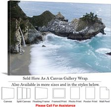 Big Sur McWay Falls California Coastal Landscape Canvas Wrap 30