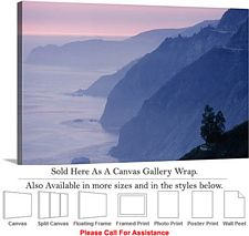 Big Sur Mountains California Coastal Landscape Canvas Wrap 30