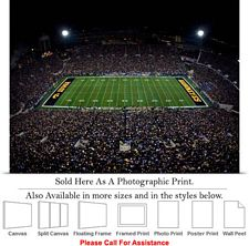 "University of Iowa Kinnick Stadium Football Game-3 Photo Print 24"" x 18"""