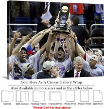 University of Kansas National Champions Jayhawks Canvas Wrap 30