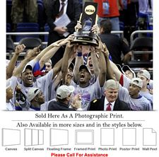 University of Kansas National Champions Jayhawks Photo Print 24