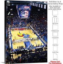 University of Kansas National Anthem Field House Canvas Wrap 23