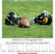 "University of Iowa Hawkeye Football Helmets Sport Photo Print 24"" x 18"""