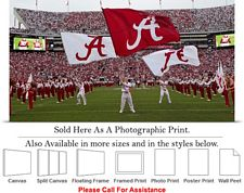 University of Alabama Flags Fly on Game Day Sports Photo Print 30