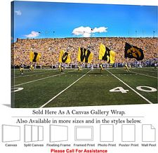 University of Iowa Flags Fly on Football Game Day Canvas Wrap 30