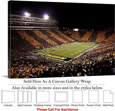 "University of Iowa Kinnick Stadium Football Game-2 Canvas Wrap 30"" x 20"""